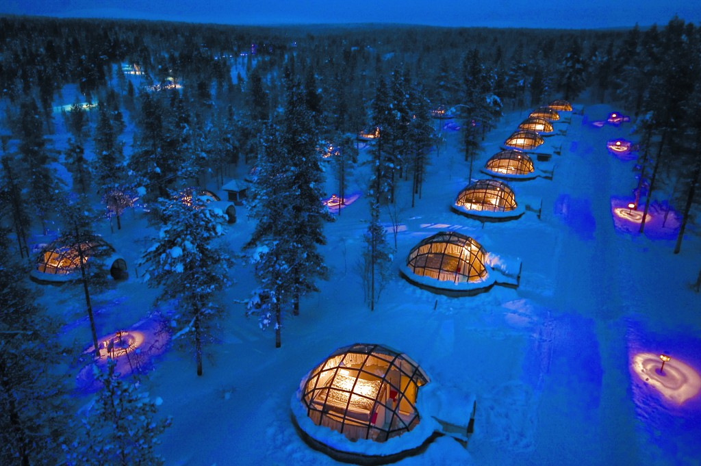 Igloos View From Air | Kakslauttanen