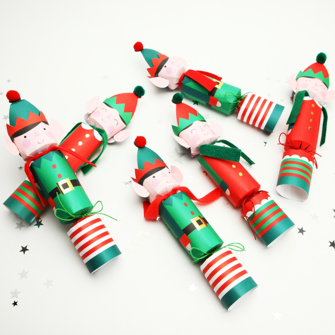 Pack Of Six Little Elf Crackers- NOTHS
