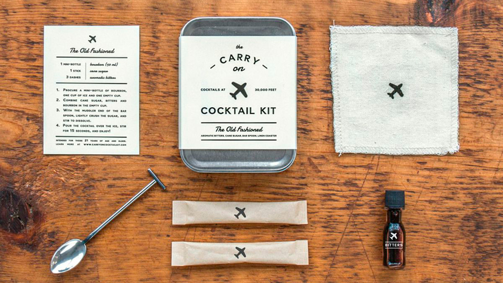 Men's Society Carry On Cocktail Kit - Old Fashioned