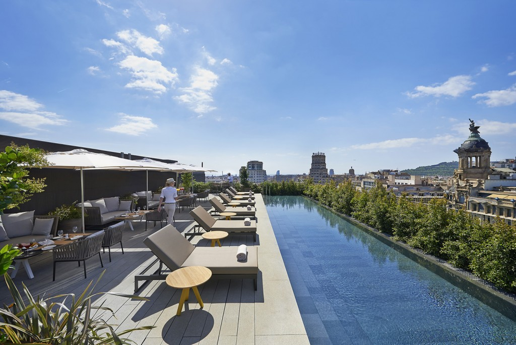 Mandarin Oriental Hotel Terrace | Credit: George Apostolidis | Courtesy of The Mandarin Oriental