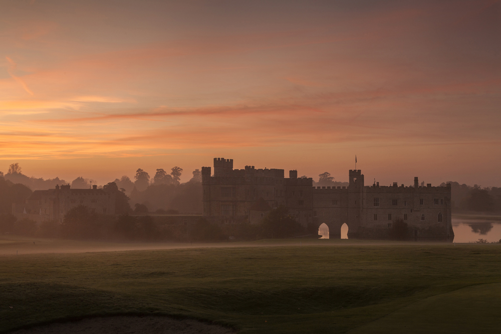 Sarah Medway Castle Autumn Sunset Mist