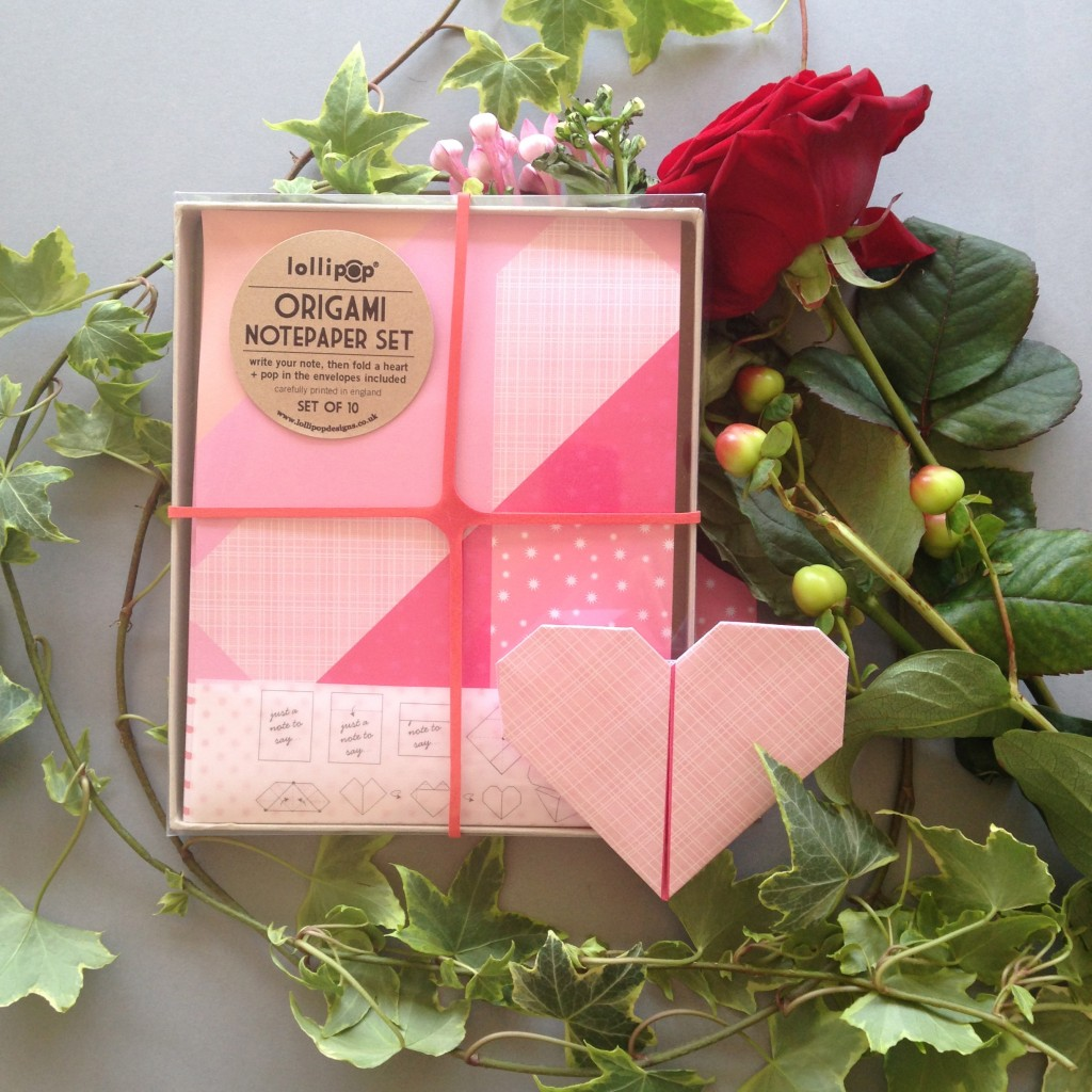 Origami Notepaper Set: Heart
