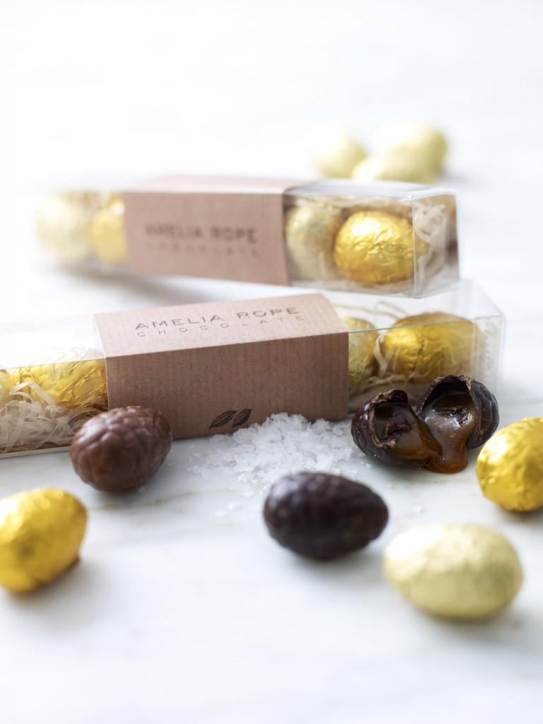 Sea Salt Caramel Mini Easter Eggs by Amelia Rope | Top Luxury Easter Eggs
