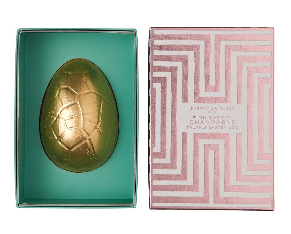 Little Pink Marc de Champagne Truffle Egg, Fortnum & Mason | Top Luxury Easter Eggs