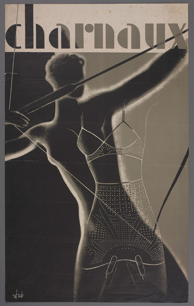Advertising Poster designed by Hans Schleger for the Charnaux Patent Corset Co. Ltd c. 1936 Courtesy of the Hans Schleger Estate