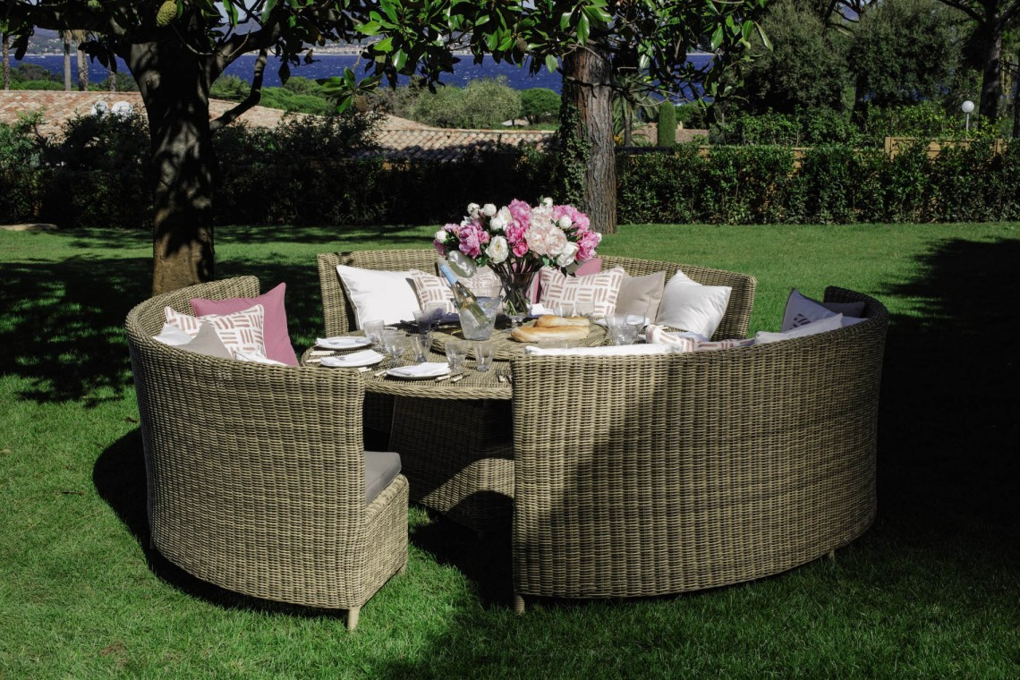 OKA Orseno Outdoor Table Set | Summer Dining Inspiration