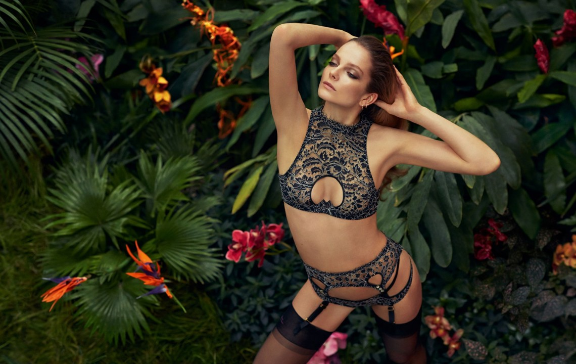 Tamila Lingerie Set from the Agent Provocateur Soirée collection SS 2015 | Credit: Photographer Sebastian Faena Model Eniro Mihalik