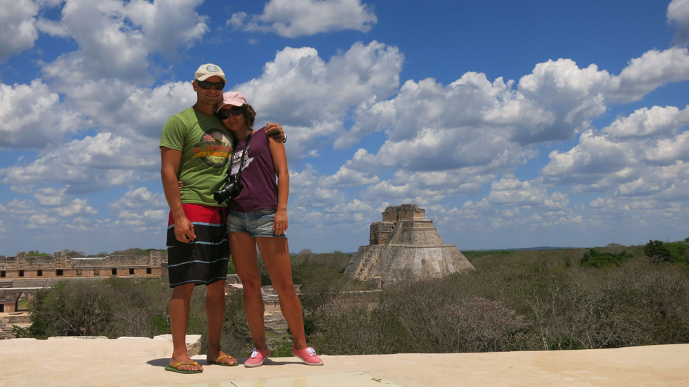 Campbell and Alya Uxmal, Mexico