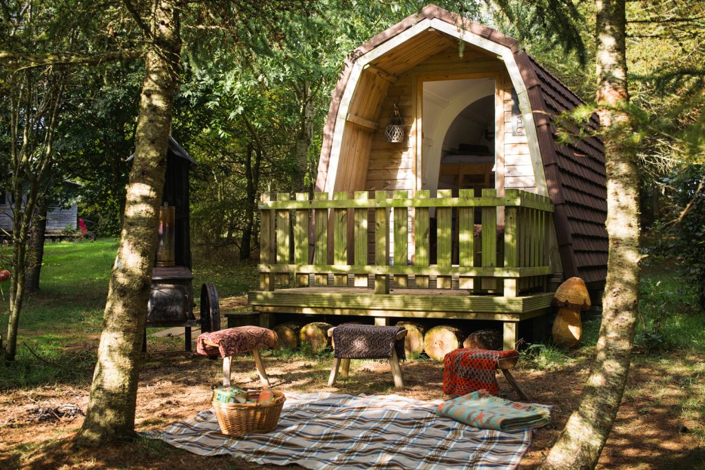 Top 10 Glampsites For Two | Glamping à Deux- the UK's Most Romantic Spots from the Experts at www.coolcamping.co.uk | Cwtch Woodland Camp, Pembrokeshire