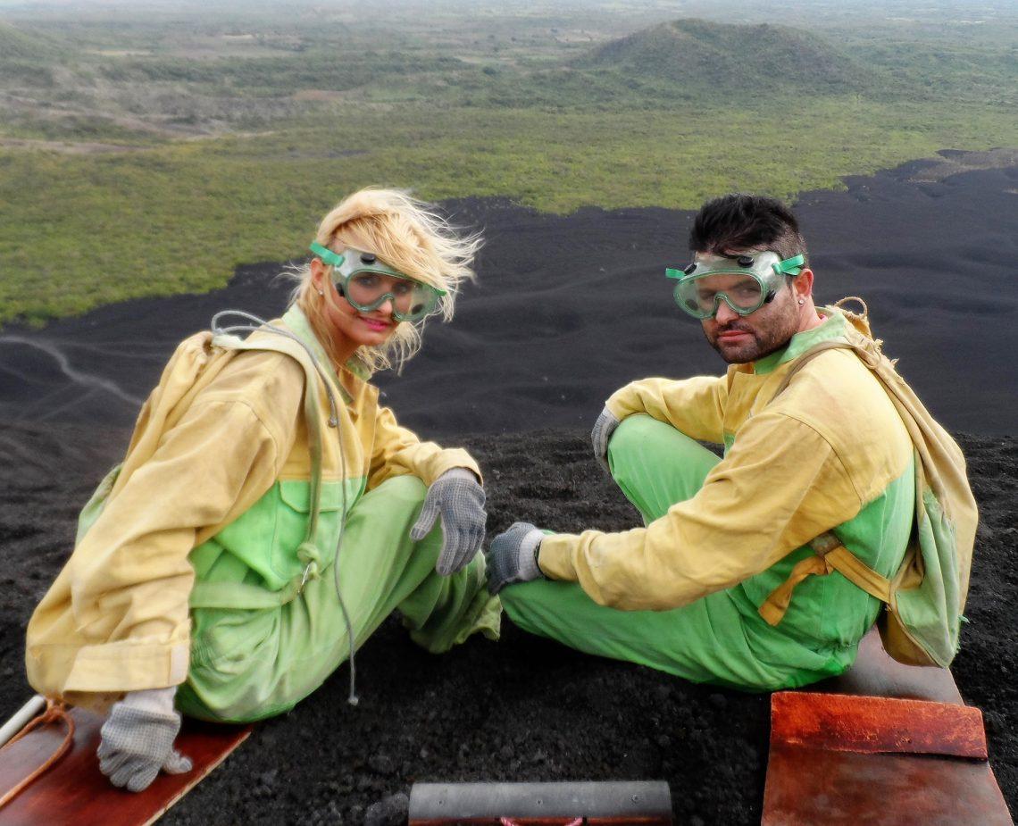 Be Inspired By....Declan & Paula   Volcano Boarding Nicaragua