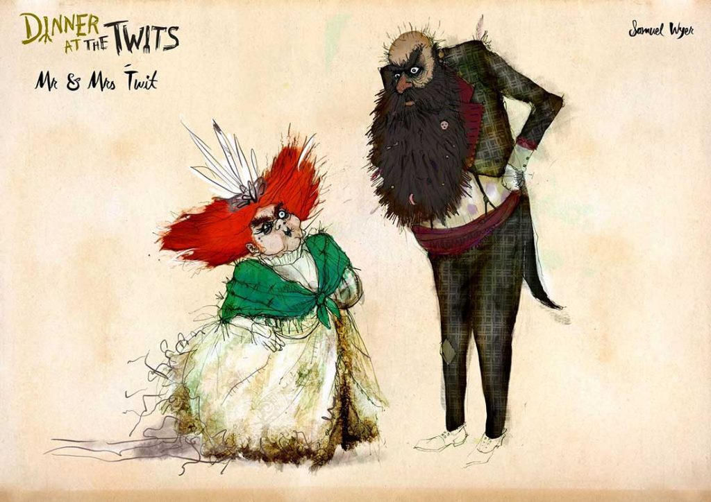 Dinner At The Twits - Mr and Mrs Twit | Samuel Wyer