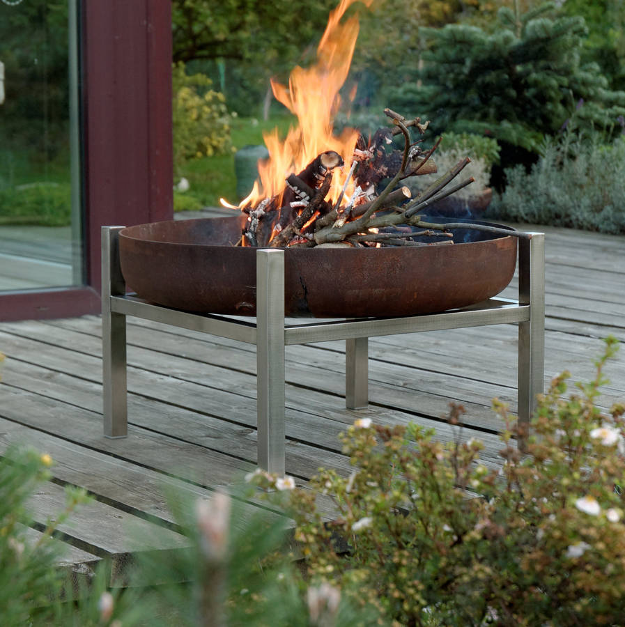Unexpected Wedding Gift Ideas   Firepit   Arpe Studio steel crate firepit