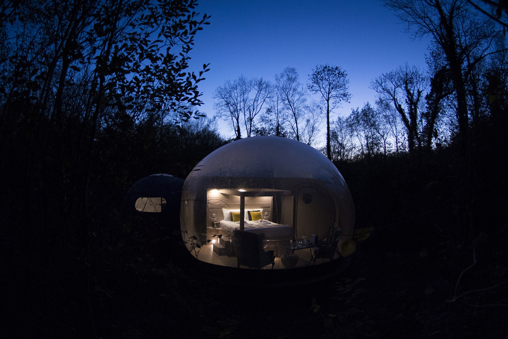 World's Most Breathtaking Rooms with a View | Forest Domes, Finn Lough Resort, Northern Ireland