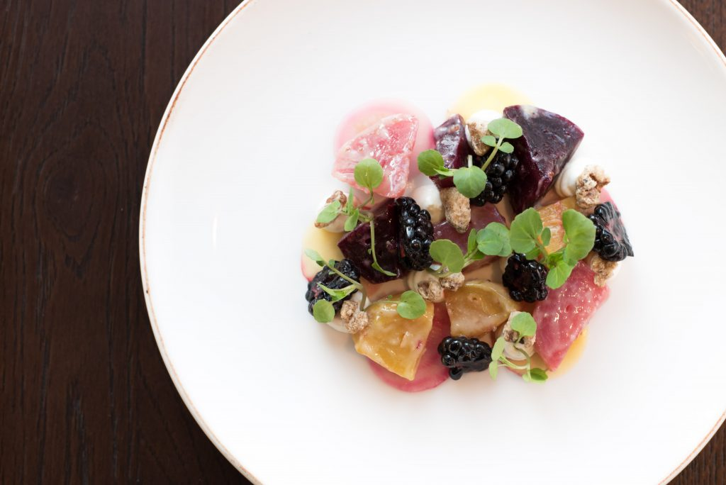 Foodie Review | Enter The World Of The Aviary | Beetroot, goat's cheese, blackberries, walnuts, truffle