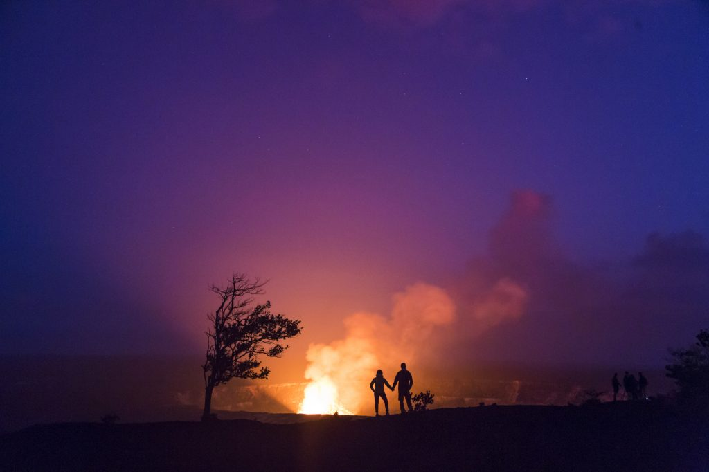 8 Must Have Romantic Experiences In Hawai'i | Sunset helicopter ride over Kīlauea Volcano: Island of Hawai'i