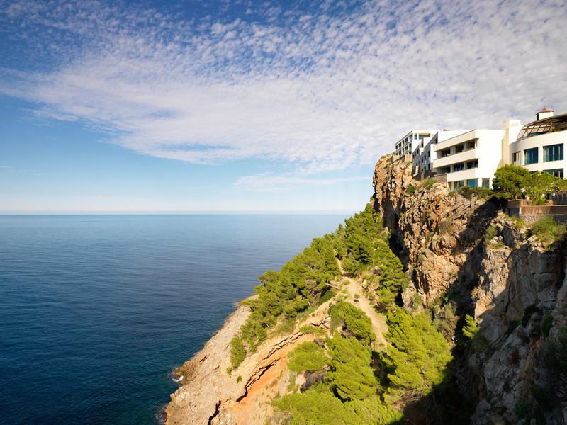 World's Most Romantic Clifftop Hotels - Jumeirah Port Soller Hotel Cliffside location
