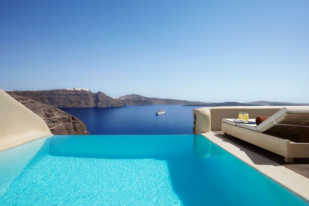 World's Most Romantic Clifftop Hotels - Mystique, Santorini
