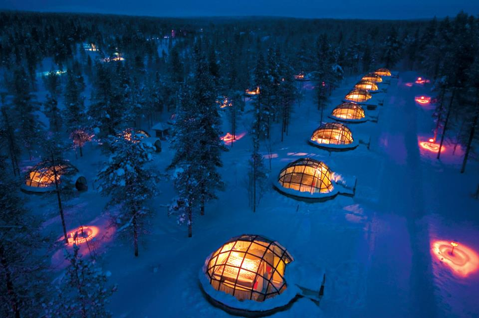 Favourite Festive Playgrounds of the Rich and Famous | credit Kakslauttanen Facebook
