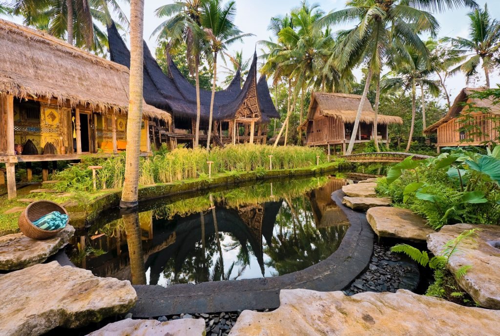 Top 12 Most Beautiful Overwater Bungalows | Bambu Indah- Ubud, Indonesia