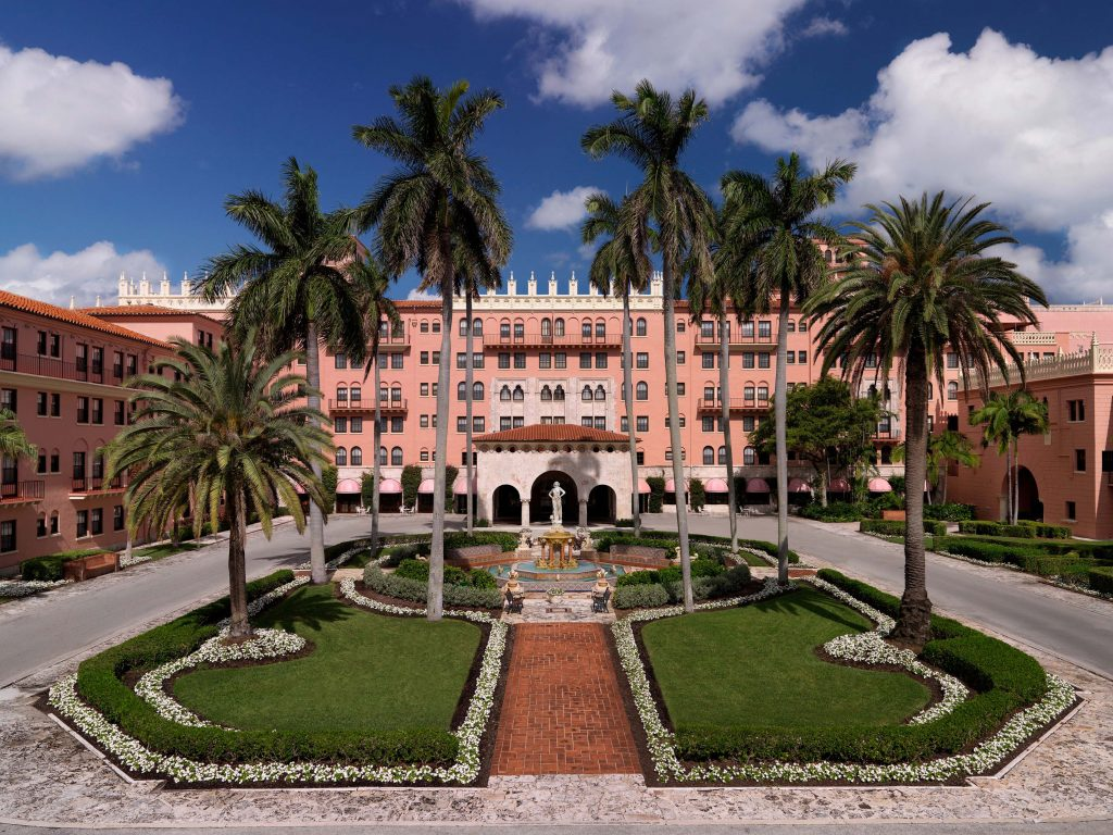 Prettiest Pink Hotels Around The World | Boca Raton Resort and Club, A Waldorf Astoria Resort – Florida, USA