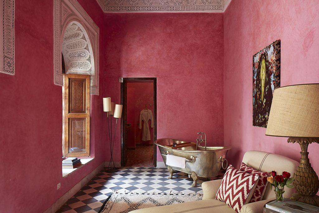 Prettiest Pink Hotels Around The World |El Fenn – Marrakech, Morocco | © Kasia Gatkowska