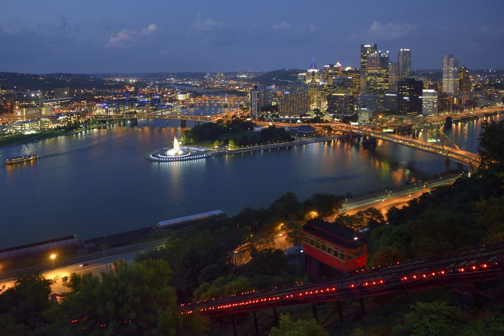 12 of the Best Stargazing Spots in the USA | Pittsburgh from the Duquesne Incline, Pittsburgh, Pennsylvania