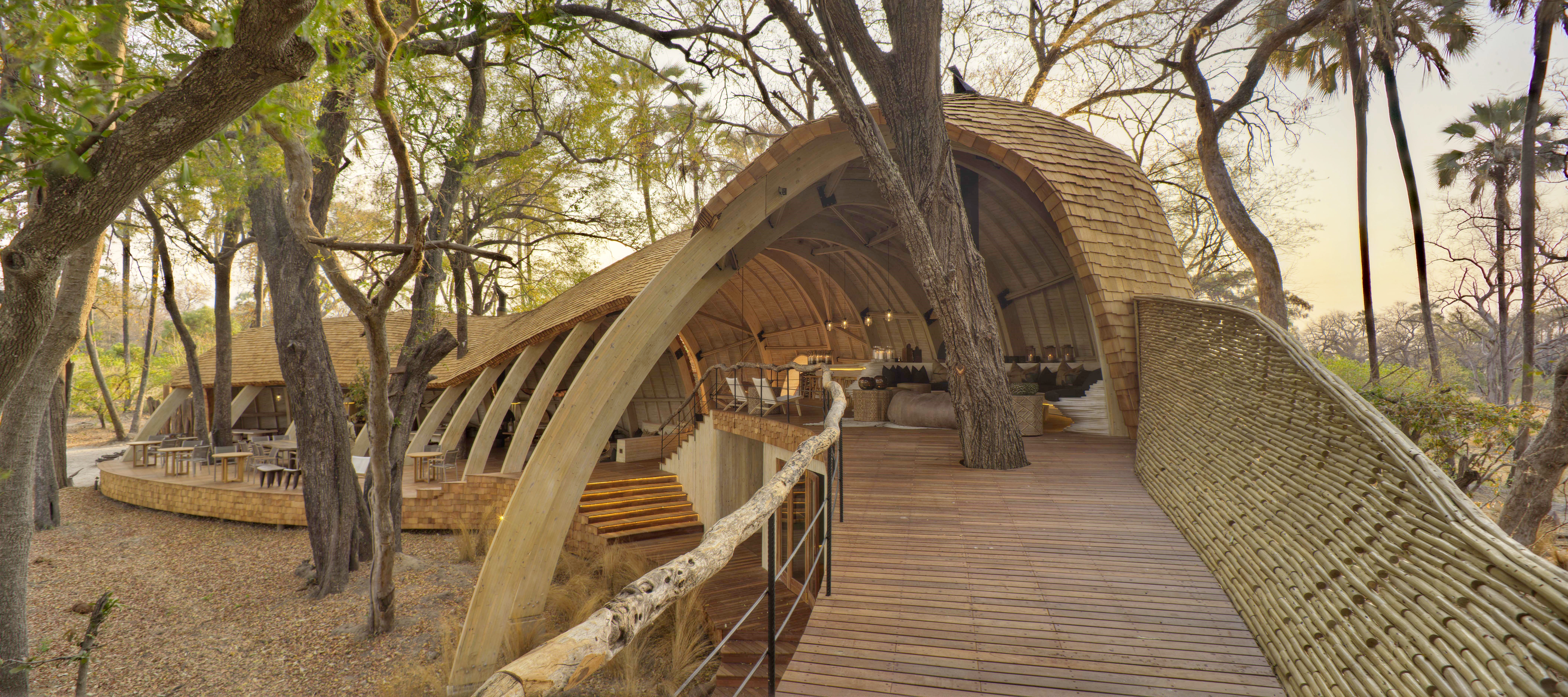 Architecturally Impressive Hotels Around The World | andBeyond Sandibe Okavango Safari Lodge - Botswana