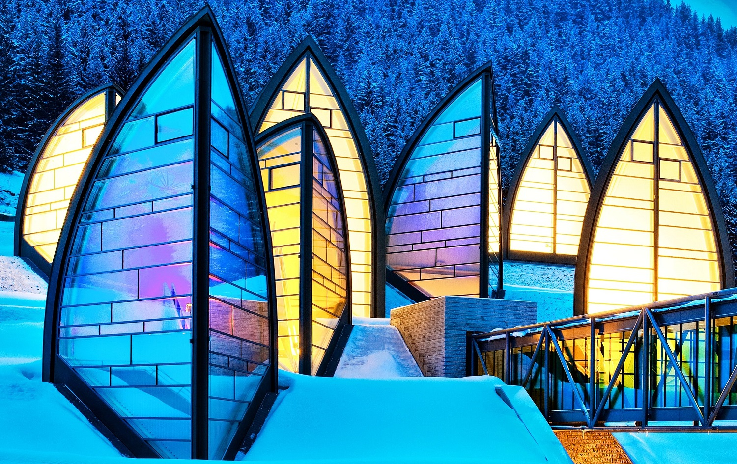 Architecturally Impressive Hotels Around The World | Tschuggen Bergoase Spa - Arosa, Switzerland